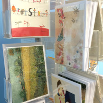 Art Cards on display